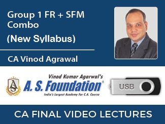 CA Final Combo (FR + SFM) New Syllabus Video Lectures by CA Vinod Agrawal