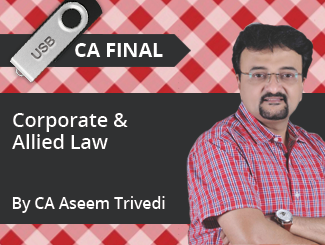CA Final Corporate & Allied Law Video Lectures by CA Aseem Trivedi (USB)