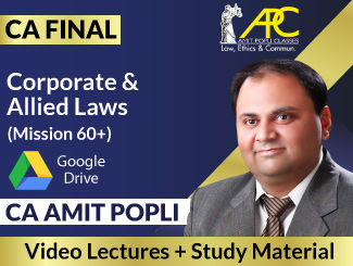 CA Final Corporate & Allied Laws Video Lectures By CA Amit Popli (Download)