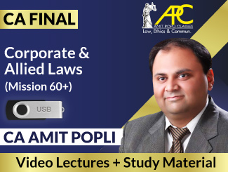 CA Final Corporate & Allied Laws Video Lectures By CA Amit Popli (USB)
