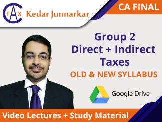 CA Final (DT + IDT) Video Lectures by CA Kedar Junnarkar