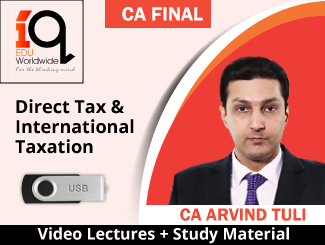 CA Final Direct Tax & International Taxation Video Lectures by CA Arvind Tuli (USB)