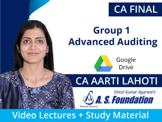 CA Final Old Syllabus Group 1 Advanced Auditing Video Lectures by CA Aarti Lahoti (Download)