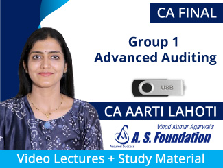 CA Final Group 1 Advanced Auditing Video Lectures by CA Aarti Lahoti