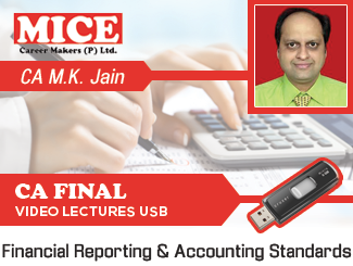 CA Final Group 1 Financial Reporting & Accounting Standards Video Lectures by CA M K Jain (USB)