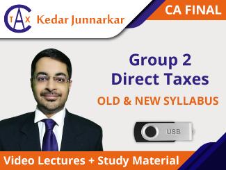 CA Final Direct Tax Video Lectures by CA Kedar Junnarkar (USB)