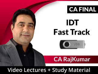 CA Final IDT Fast Track Video Lectures by CA RajKumar Nader (USB)