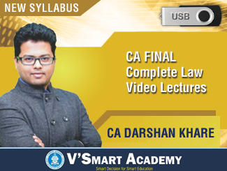 CA Final Law Video Lectures for New Syllabus by CA Darshan Khare (USB)