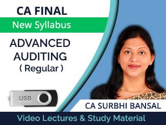 CA Final New Syllabus Advanced Auditing Regular Video Lectures by CA Surbhi Bansal (USB)