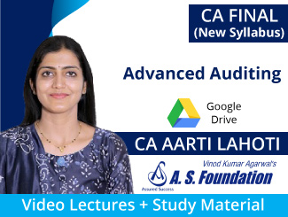 CA Final New Syllabus Advanced Auditing Video Lectures by CA Aarti Lahoti (Download)