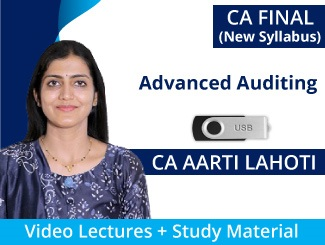 CA Final New Syllabus Advanced Auditing Video Lectures by CA Aarti Lahoti (USB)