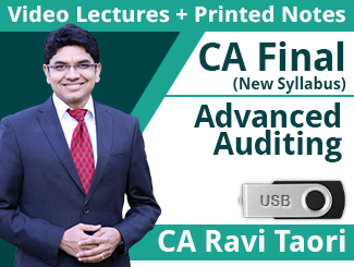 CA Final New Syllabus Advanced Auditing & Professional Ethics Video Lectures By CA Ravi Taori (1 Year - USB)