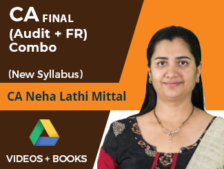 CA Final New Syllabus (Audit + FR) Combo Video Lectures by CA Neha Lathi Mittal (Online)