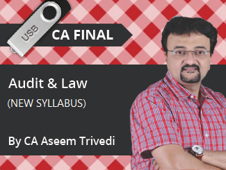 CA Final New Syllabus (Audit + Law) Combo Video Lectures by CA Aseem Trivedi (USB)