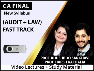 CA Final New Syllabus Combo (Audit + Law) Fast Track Video Lectures by Prof. Khushboo Sanghavi & Prof. Harsh Kachalia (USB)