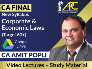 CA Final New Syllabus Corporate & Economic Laws Video Lectures By CA Amit Popli (Download)