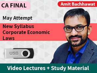 CA Final New Syllabus Corporate & Economic Laws Video Lectures by Amit Bachhawat May Attempt (USB)