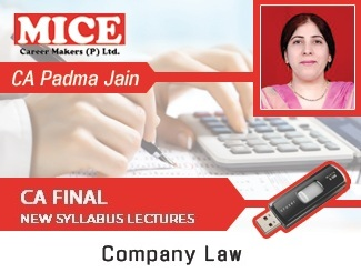 CA Final New Syllabus Corporate Law Video Lectures by CA Padma Jain (USB)