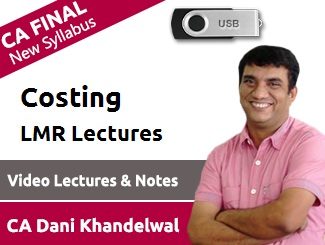 CA Final New Syllabus Costing Last Minute Revision Lectures by CA Dani Khandelwal (DVD)
