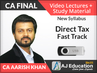 CA Final New Syllabus Direct Tax Fast Track Video Lectures by CA Aarish Khan (USB)