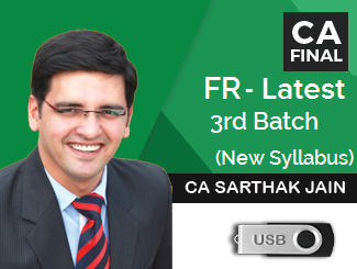 CA Final New Syllabus Financial Reporting Latest Video Lectures by CA Sarthak Jain (USB)