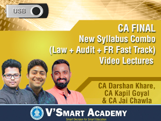 CA Final New Syllabus Combo (Law + Audit + FR Fast Track) Video Lectures by CA Darshan Khare, CA Kapil Goyal & CA Jai Chawla (USB)
