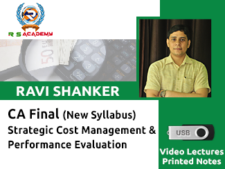 CA Final New Syllabus SCM & PE Video Lectures by CA Ravi Shanker (USB)