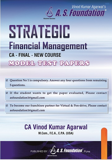 CA Final New Syllabus SFM Model Test Papers Book by CA Vinod Agrawal