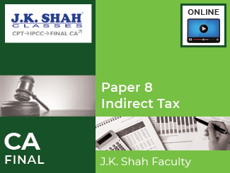 CA Final Paper 8 Indirect Tax Online Classes