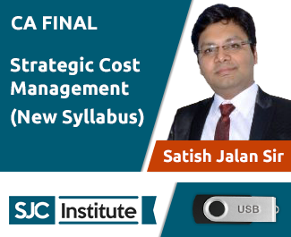 CA Final New Syllabus Strategic Cost Management Video Lectures by Satish Jalan (USB)