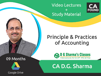 CA Foundation Principle & Practices of Accounting Video Lectures by CA DG Sharma (Download, 9 Months)