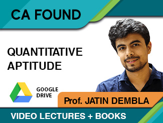 CA Foundation Quantitative Aptitude Video Lectures by Prof Jatin