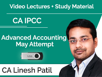 CA IPCC Advanced Accounting Video Lectures by CA Linesh Patil May Attempt (USB)