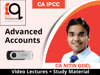 CA IPCC Advanced Accounts Video Lectures by CA Nitin Goel (USB)