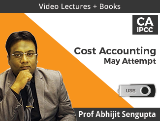 CA IPCC Cost Accounting Video Lectures by Prof Abhijit Sengupta May Attempt (USB + Books)