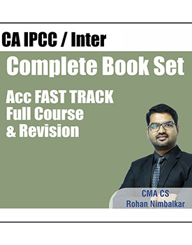 CA Inter Accounts Fast Track Revision Complete Book Set by CS Rohan Nimbalkar
