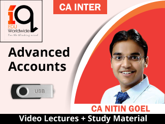 CA Inter Advanced Accounts Video Lectures by CA Nitin Goel (USB)