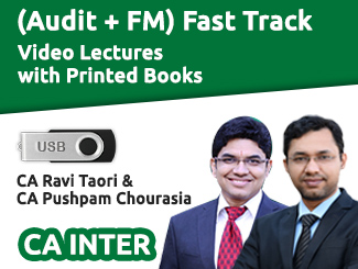 CA Inter (Audit + FM) Combo Fast Track Video Lectures by CA Ravi Taori & CA Pushpam Chourasia (USB)