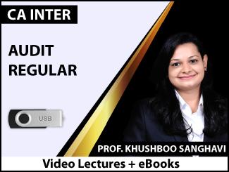 CA Inter Audit Regular Video Lectures by CA Khushboo Sanghavi (USB + eBooks)