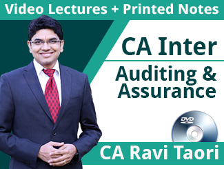 CA Inter Auditing & Assurance Video Lectures By CA Ravi Taori (DVD,  12 Months)