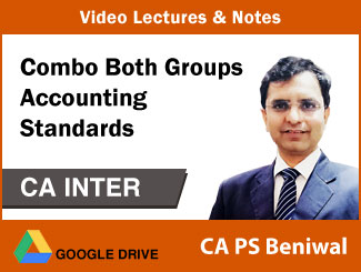 CA Inter Combo Both Groups Accounting Standards Video Lectures by CA PS Beniwal (Download)