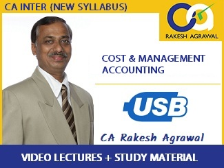 CA Inter Cost & Management Accounting Video Lecture by CA Rakesh Agrawal (USB)