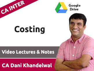 CA Inter Costing Video Lectures by CA Dani Khandelwal (Download)