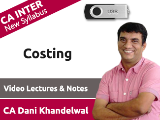 CA Inter Costing Video Lectures by CA Dani Khandelwal (USB)