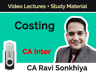 CA Inter Costing Video Lectures by CA Ravi Sonkhiya (USB)