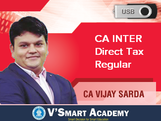 CA Inter Direct Tax Regular Video Lectures by CA Vijay Sarda (USB)