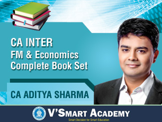 CA Inter FM & Economics Complete Book Set by CA Aditya Sharma