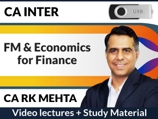 CA Inter FM & Economics for Finance Video Lectures by CA RK Mehta (USB)