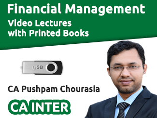 CA Inter Financial Management Video Lectures by CA Pushpam Chourasia (USB + Books)