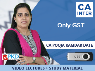 CA Inter GST Video Lectures by CA Pooja Kamdar Date (USB)